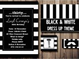 Black and White 30th Birthday Invitations Party Press Party Invitations Invitation Designs