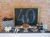 Black and White 40th Birthday Party Decorations 40th Birthday Party Idea for A Man