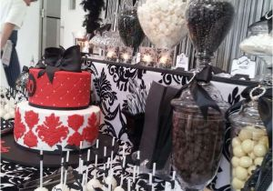 Black And White 40th Birthday Party Decorations Ideas Photo 9 Of