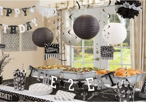 Black And White 40th Birthday Party Decorations Supplies City