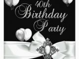 Black and White 50th Birthday Decorations 40th Birthday Party Black White Silver Balloons 5 25×5 25