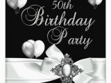 Black and White 50th Birthday Decorations 50th Birthday Party Black White Silver Balloons 5 25×5 25