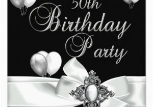 Black And White 50th Birthday Decorations Party Silver Balloons 5 25x5 25