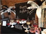 Black and White 50th Birthday Decorations Black and White Birthday Backdrop Little Dimple Designs
