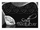 Black and White 50th Birthday Decorations Black White Diamond 50th Birthday Invitations Zazzle