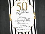 Black and White 50th Birthday Invitations 45 50th Birthday Invitation Templates Free Sample