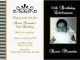 Black and White 50th Birthday Invitations Black and White Birthday Invitations Drevio Invitations