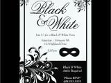 Black and White 50th Birthday Invitations Black and White Party Invitations Oxsvitation Com