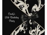 Black and White 50th Birthday Invitations Black White Swirl 50th Birthday Party 5 25 Quot Square