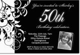 Black and White 50th Birthday Invitations Free Black and White Birthday Invitations Design Free