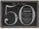 Black and White 50th Birthday Invitations Ideas for 50th Birthday Invitations Dolanpedia