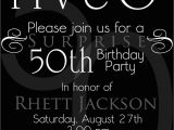 Black and White 50th Birthday Invitations the 50th Birthday Invitation Template Free Templates