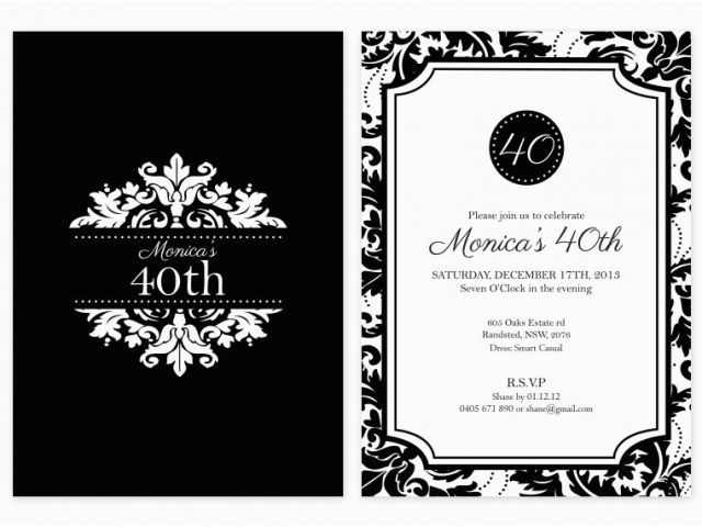 Download By SizeHandphone Tablet Desktop Original Size Back To Black And White 50th Birthday Party Invitations