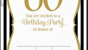 Black and White 60th Birthday Invitations Free Printable 60th Birthday Invitations Free Invitation