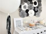Black and White Birthday Party Decoration Ideas Black and White Party Decorations Sandy Party Decorations