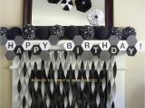 Black and White Decorations for Birthday Party Party Modern soccer 7th Birthday Party