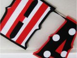 Black and White Striped Happy Birthday Banner Happy Birthday Banner Red White and Black Stripes and by