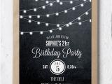 Black Light Birthday Party Invitations Birthday Invitation 21st Birthday Invite Black and White