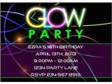 Black Light Birthday Party Invitations Black Light Party Invitations Free Parties Pinterest