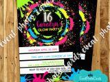 Black Light Birthday Party Invitations Blacklight Party Invitations Www Imgkid Com the Image