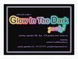 Black Light Birthday Party Invitations Glow In the Dark Blacklight Party Invitation 5 Quot X 7