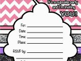 Blank Birthday Invitations to Print A Cupcake Birthday Party