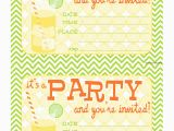 Blank Birthday Invitations to Print Bnute Productions Free Printable Citrus Splash Invitations