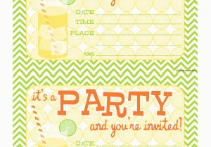 Blank Birthday Invitations To Print Bnute Productions Free Printable Citrus Splash