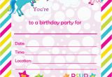 Blank Birthday Invitations to Print Fill In Birthday Party Invitations Printable Rainbows and