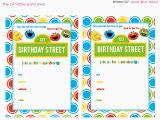 Blank Birthday Invitations to Print Free Printable Sesame Street 1st Birthday Invitations