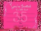 Blank Birthday Invitations to Print Items Similar to Printable Girl 39 S Blank Hot Pink Cheetah