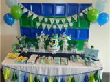 Blue and Green Birthday Party Decorations 35 Best Images About I Paper Plate Backdrops On