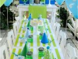Blue and Green Birthday Party Decorations Blue Green Birthday Party Pinterest Cumple