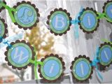 Blue and Green Birthday Party Decorations Dinosaur Birthday Banner Boys Birthday Party Decorations