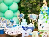 Blue and Green Birthday Party Decorations Kara 39 S Party Ideas Green and Blue Balloon themed Birthday