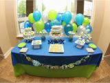 Blue and Green Birthday Party Decorations Lime Green Aqua Blue Necktie Little Man Shower Baby