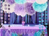 Blue and Purple Birthday Decorations Mermaid Under the Sea Decorations Purple Baby Blue Baby