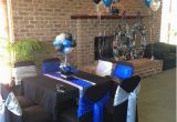 Blue and Silver Birthday Decorations Blue Black and Silver 60th Birthday Decorations Mom 39 S