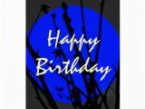 Blue Moon Cards Birthday Blue Happy Birthday Cards Zazzle