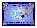 Blue Moon Cards Birthday Blue Moon 7th Birthday Card Zazzle