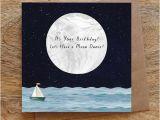 Blue Moon Cards Birthday Moon Dance Birthday Greeting Card Birthday Card Moon