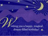 Blue Mountain Com Birthday Cards Quot Dream Filled Birthday Quot Birthday Postcard Blue