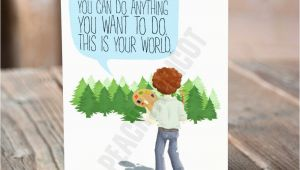 Bob Ross Birthday Card Bob Ross Birthday Card Happy Little Birthday Card You