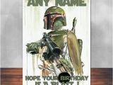 Boba Fett Birthday Card Star Wars Birthday Card Boba Fett Fan Art 5×7 by