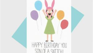 Bobs Burgers Birthday Card Louise Belcher Bob 39 S Burgers Birthday Card Shop Lost