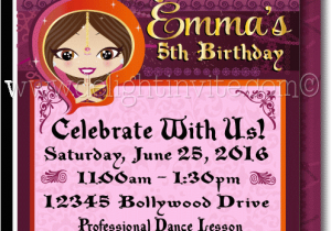 Bollywood Birthday Invitations Children 39 S Party