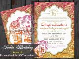 Bollywood Birthday Invitations Sweet 16 Sixteen Birthday Bollywood Invitation Indian