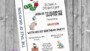 Book themed Birthday Party Invitations Book themed Birthday Party Invitation Book Birthday Invite