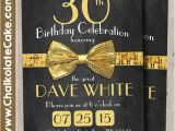 Bow Tie Birthday Invitations 1920 39 S Birthday Party Invitation Gold Bow Tie by