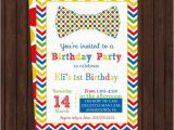 Bow Tie Birthday Invitations Boys Party Invitations Bow Tie First Birthday by